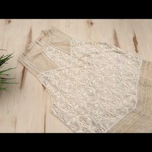 FREE PEOPLE lace flowy long tunic/top